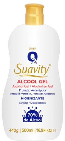 Gel Higienizante O2 Suavity 500ml