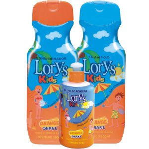 Kit Lorys Kids Orange Shampoo e Condicionador e Creme