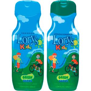 Kit Lorys Kids Green Shampoo e Condicionador