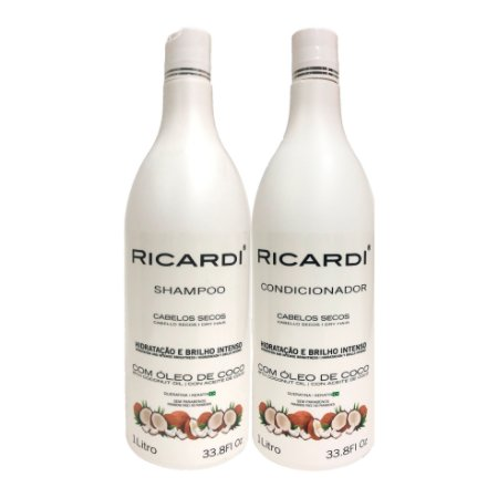 Kit Ricardi Shampoo e Condicionador Oleo Coco 1L
