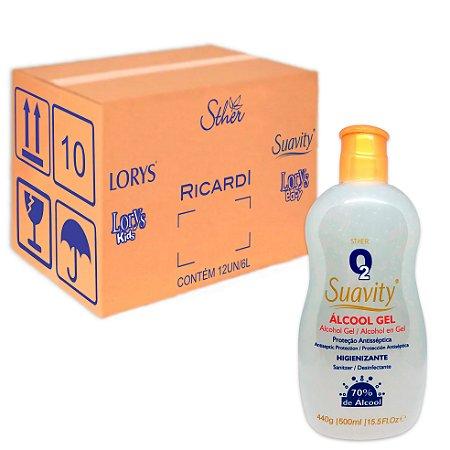 Gel Higienizante O2 Suavity 500Ml 12Un