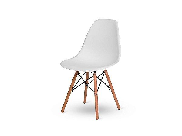 1 Cadeira Base Madeira Eiffel Charles Eames Wood De Jantar Branca