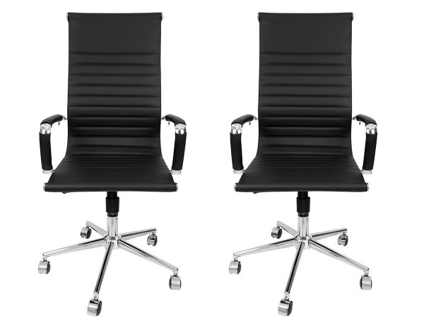 Conjunto 2 Cadeiras Presidente Giratória Esteirinha Charles Eames