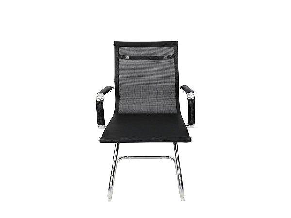 1 Cadeira Pé Fixo Interlocur Escritório Mesh Charles Eames