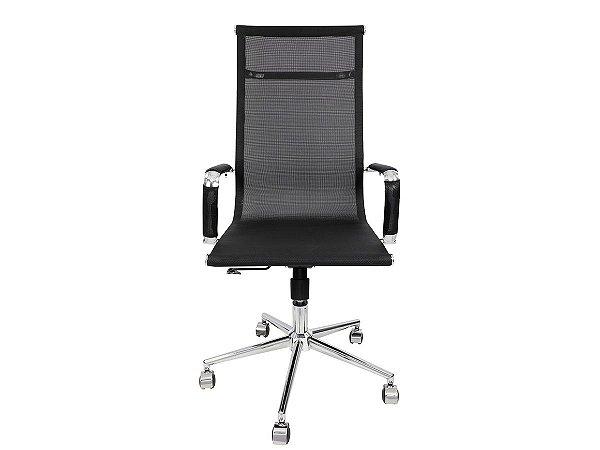 1 Cadeira Presidente Giratória Esteirinha Charles Eames Mesh