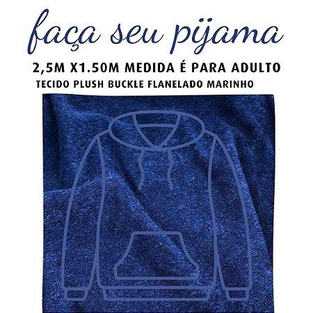 Tecido Buckle Flanelado Marinho para Pijama Adulto 2.5x1.50m