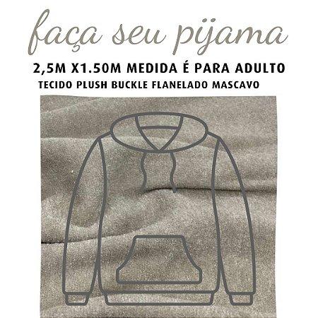 Tecido Buckle Flanelado Mascavo para Pijama Adulto 2.5x1.50m