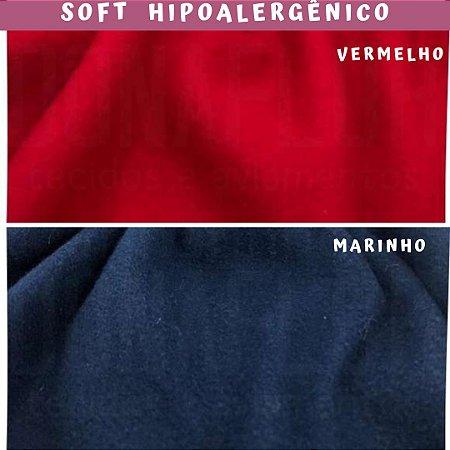 Tecido Soft Pesado Vermelho e Marinho 1,5m x 1.60m cada