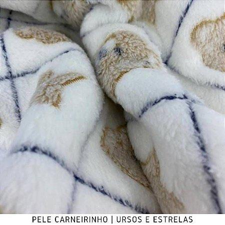Pele Carneirinho Ursos Estrelas 50cmx1,60m