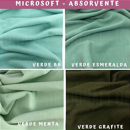 Tecido Microsoft Verde Menta Hipoalérgico 4cortes de 50cm x 1.60m cada, Artesanato