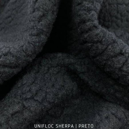 Unifloc SHERPA Preto tecido Peluciado