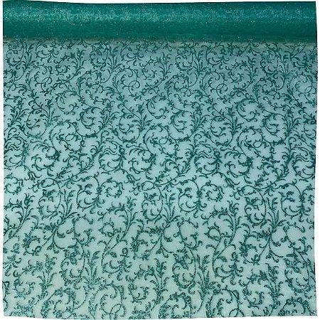 Organza Decorada Tiffany tecido transparente e firme