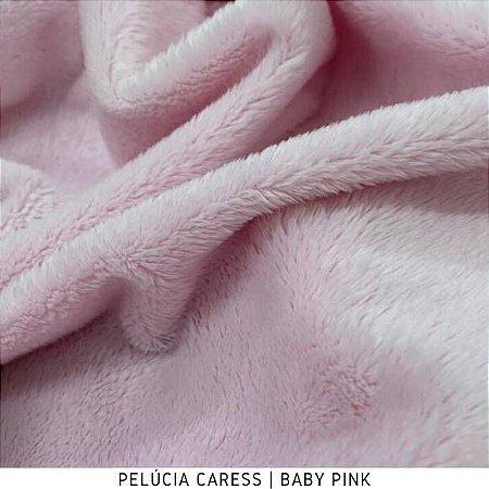 Pelúcia Caress Baby Pink Rosa tecido pelo Baixo, Macia e não Desfia
