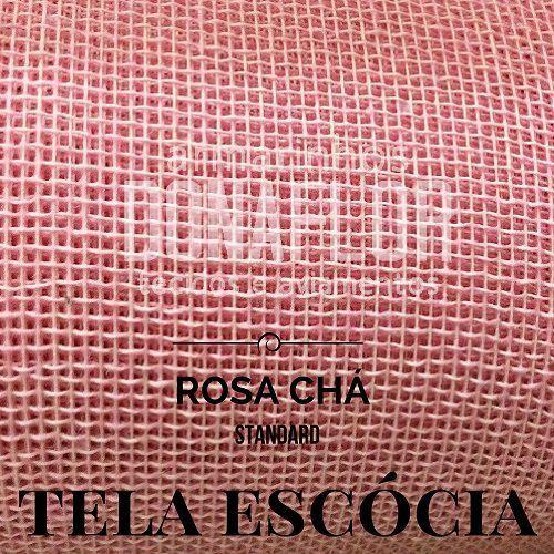 Tela Escócia Rosa Chá tecido engomado para embalagens e decorações