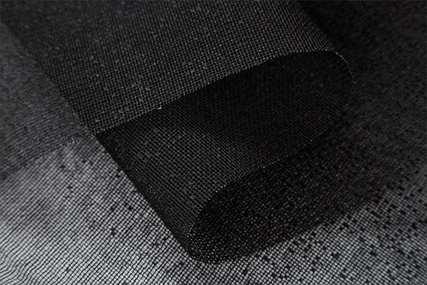 Tela Escócia Preto tecido engomado para embalagens e decorações