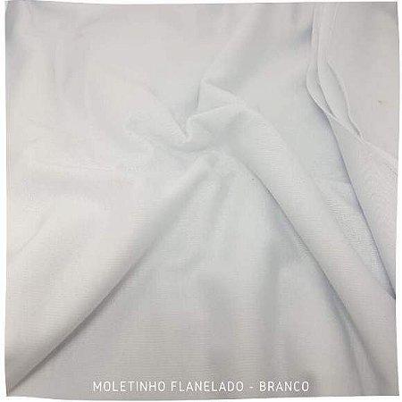 Moletinho Flanelado Branco tecido Leve para Pijamas