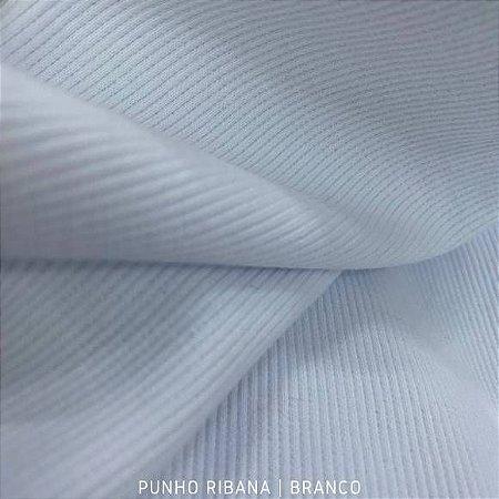 Ribana Punho Branco 98% Algodão 2%Elastano tecido Firme