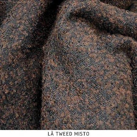 Lã Tweed Marrom tecido quente para Roupas em Geral