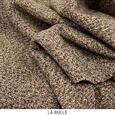 Lã Boucle Rose tecido quente para Roupas em Geral