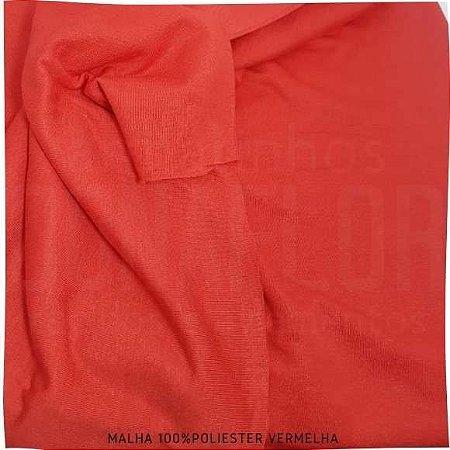 Malha 100% Poliéster Vermelho tecido Leve e pode Sublimar