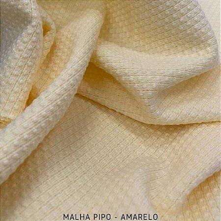Malha Piquet Pipo Amarelo tecido texturas para Roupas e Artigos de Bebê