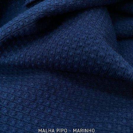 Malha Piquet Pipo Marinho tecido texturas para Roupas e Artigos de Bebê