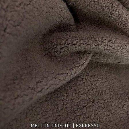 Melton Unifloc Marrom Expresso Bebê tecido Macio, Absorvente e não Desfia