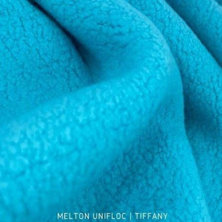 Melton Unifloc Azul Tifany tecido Macio, Absorvente e não Desfia