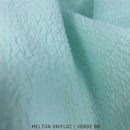 Melton Unifloc Verde Espuma tecido Macio, Absorvente e não Desfia
