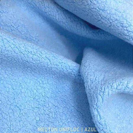 Melton Unifloc Azul Bambino tecido Macio, Absorvente e não Desfia