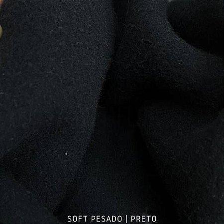Soft Pesado Preto Tecido Hipoalérgico