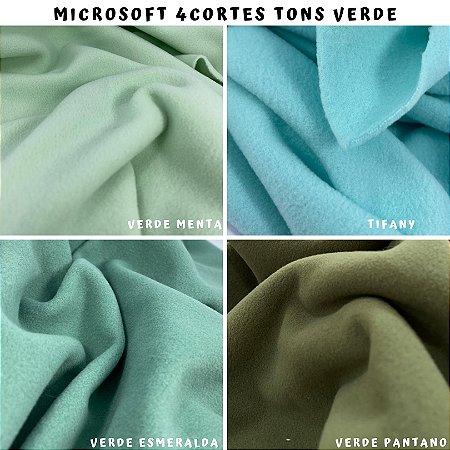 Microsoft tecido Hipoalérgico 4cortes tons Verde, Artesanato