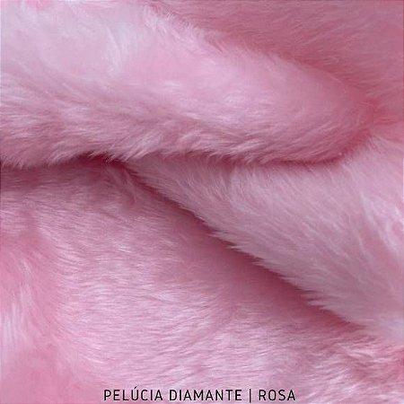 Pelúcia Diamante Rosa pelô Médio e base Firme