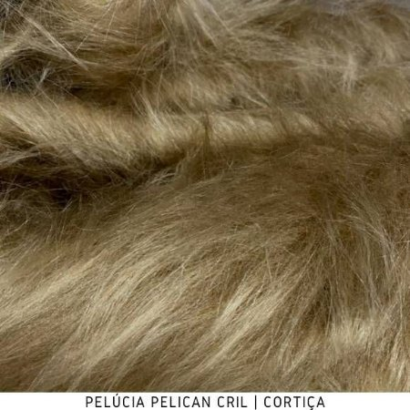 Pelúcia Pelicancril Cortiça tecido pelo Alto 95mm e base firme