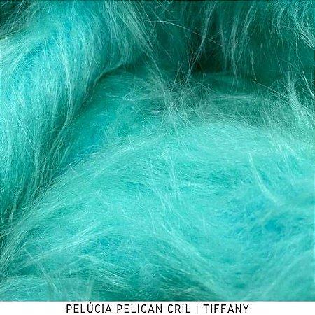 Pelúcia Pelicancril Tiffany tecido pelo Alto 95mm e base firme