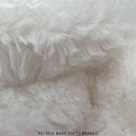 Pelúcia Baby Soft Branca tecido pelô12mm Médio e Macia