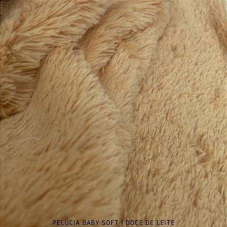 Pelúcia Baby Soft Doce de Leite tecido pelô12mm Médio e Macia
