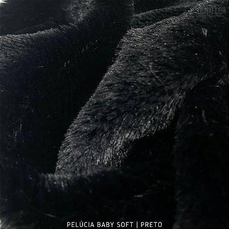 Pelúcia Baby Soft Preto tecido pelô12mm Médio e Macia