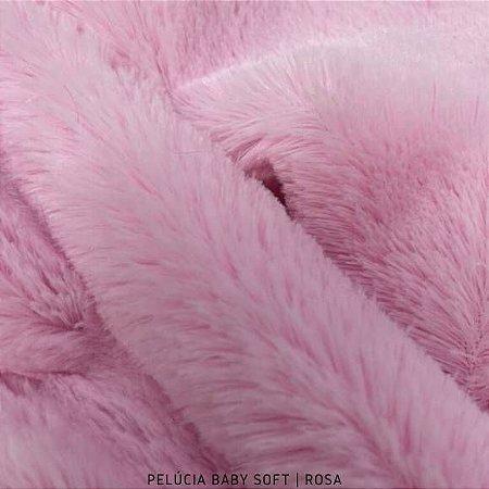 Pelúcia Baby Soft Rosa tecido pelô12mm Médio e Macia