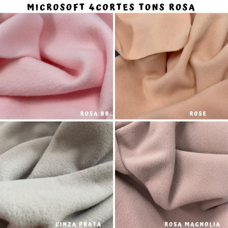 Microsoft tecido Hipoalérgico 4cortes tons Rosa, Artesanato