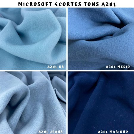 Microsoft tecido Hipoalérgico 4cortes tons Azul, Artesanato