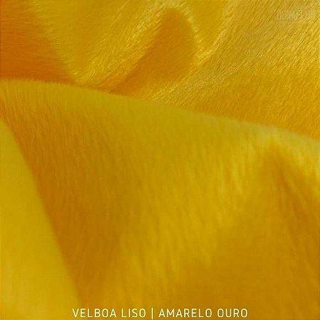 Velboa Amarelo Ouro Pelúcia Baixa pelô 3mm
