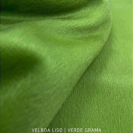 Velboa Verde Grama  tecido Pelúcia Baixa pelô 3mm