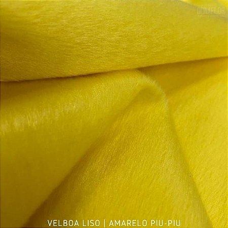 Velboa Amarelo Piu-Piu tecido Pelúcia Baixa pelô 3mm