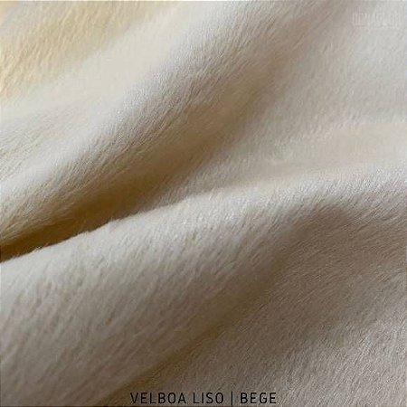 Velboa Bege tecido Pelúcia Baixa pelô 3mm