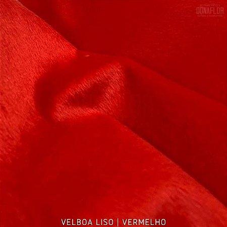Velboa Vermelho tecido Pelúcia Baixa pelô 3mm