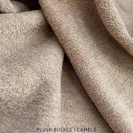 Buckle Plush Camelo tecido Felpudo e Flanelado por dentro