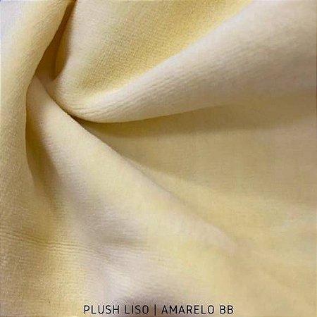 Plush Amarelo Bebê tecido toque Aveludado e Leve Brilho
