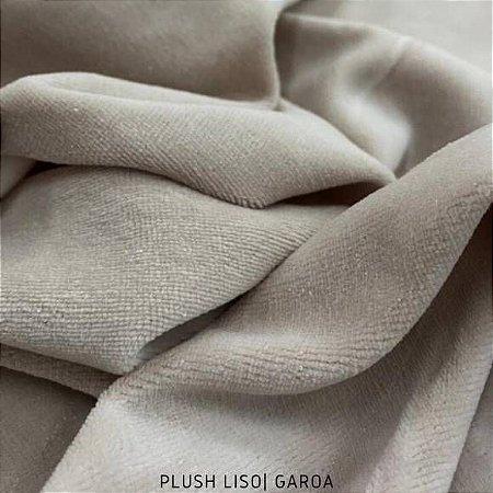Plush Cinza tecido toque Aveludado e Leve Brilho