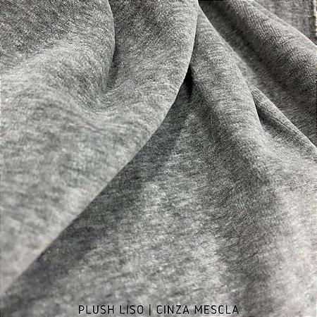 Plush Cinza Mescla tecido toque Aveludado e Leve Brilho
